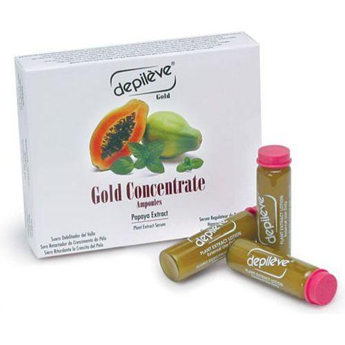 gold concentrate ampoules ampułki opóźniające odrastanie włosów marki Depileve