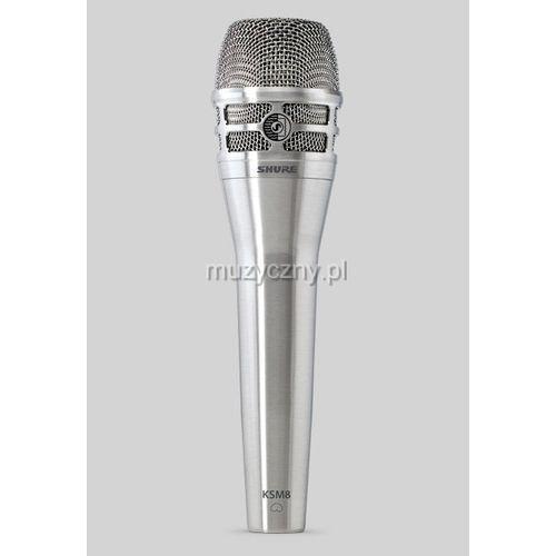 ksm8/n dualdyne mikrofon dynamiczny 2-membranowy, kolor niklowy marki Shure