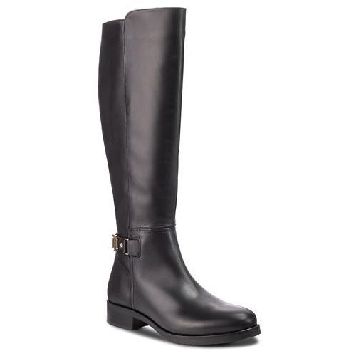 Oficerki TOMMY HILFIGER - Th Buckle High Boot FW0FW03626 Black 990, oficerki