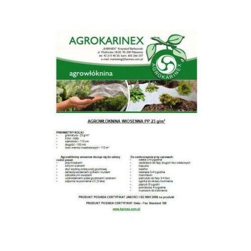 Agrowłóknina wiosenna PP 23 g/m2 biała 1,1 x 100 mb. Rolka o wadze 3 kg. - produkt z kategorii- folie i agrowłókniny