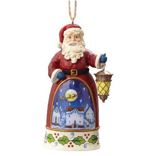 Jim shore Mikołaj z latarnią zawieszka mini santa with lantern 4055133 figurka ozdoba świąteczna