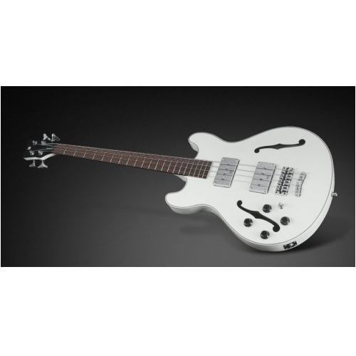star bass 4-string, solid creme white high polish, fretted - medium scale - leftthand gitara basowa marki Rockbass