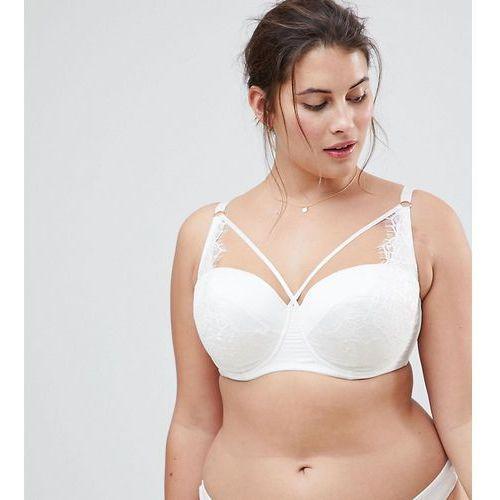 bridal imogen multiway lace moulded underwire bra - white marki Asos curve