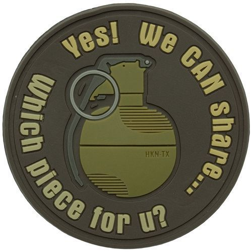 Naszywka helikon granat we can share pvc brązowa (od-gsh-rb-30) marki Helikon-tex