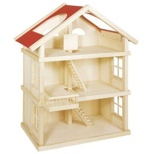 Drewniany duży domek dla lalek- aż 3 piętra, Goki z ExtraMama
