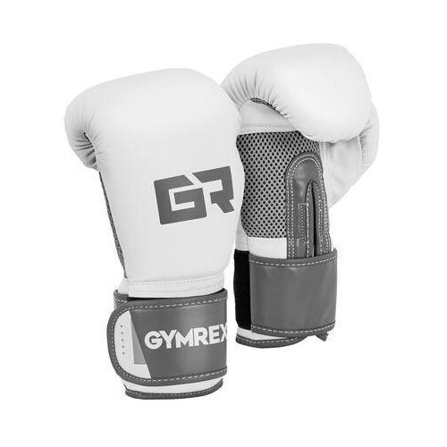 Gymrex Rękawice bokserskie - 10 oz - jasnoszary metalik
