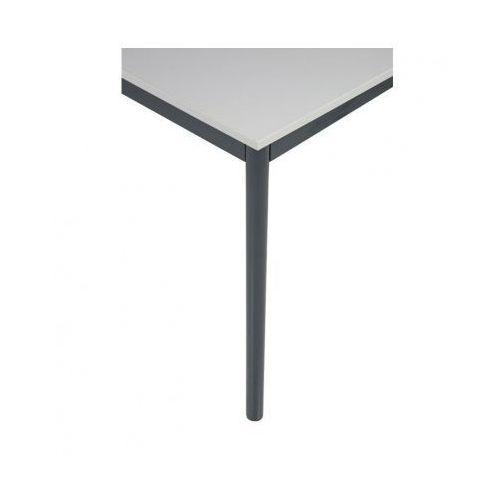 Stół kuchenny - okrągłe nogi, ciemnoszara konstrukcja, 1200x800 mm (stół do kuchni i jadalni)