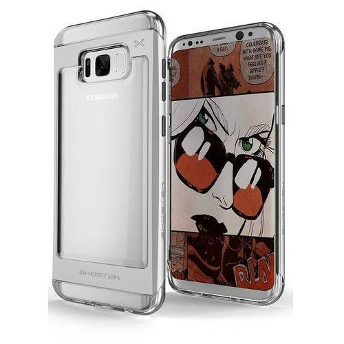 Etui Ghostek Cloak 2 Samsung Galaxy S8 Plus Silver + Folia 3D, kolor szary