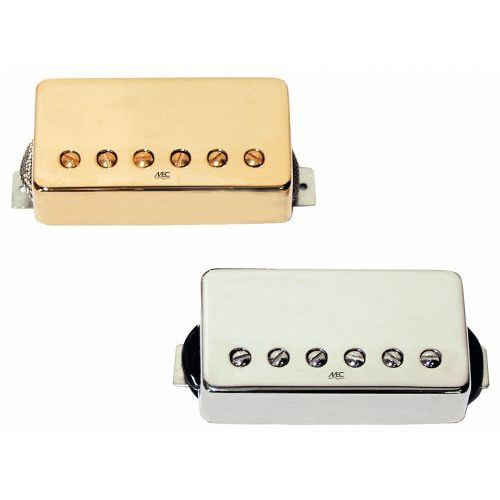 Mec modern bridge humbucker - gold metal cover przetwornik gitarowy