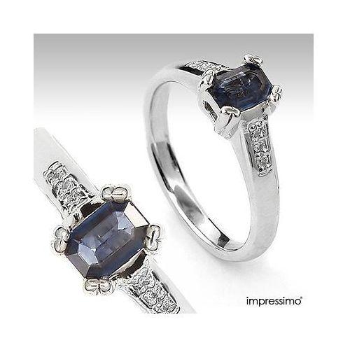 Pierścionek z szafirem i brylantami - 644 z kategorii pierścionki