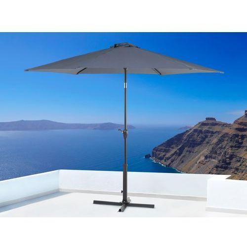 Parasol ogrodowy - antracytowy - ø 267 cm - metalowy - VARESE, kup u jednego z partnerów