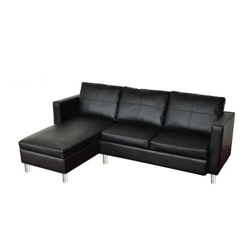 Skórzana, czarna sofa - oferta [350b672225a5b421]