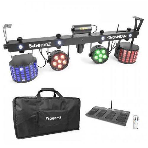 ShowBar 2x PAR 2x Butterfly laser C/Z z bezprzewodowym włącznikiem nożnym pilot