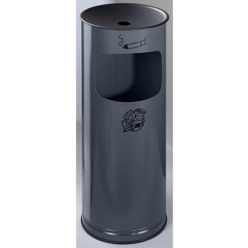 Bezpieczna popielniczka combi, blacha stalowa, wys. 610 mm, miejsce na odpady: 1 marki Var fahrzeug- und apparatebau