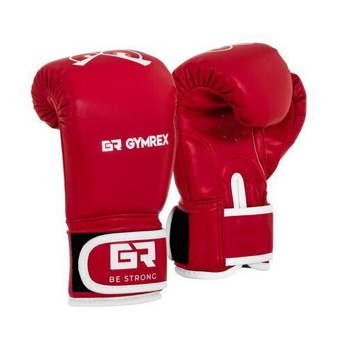 Gymrex Rękawice bokserskie dla dzieci - czerwone - 4 oz