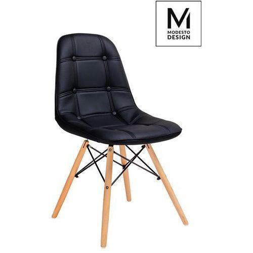Krzesło ekos wood lw001.black - - sprawdź kupon rabatowy w koszyku marki King home