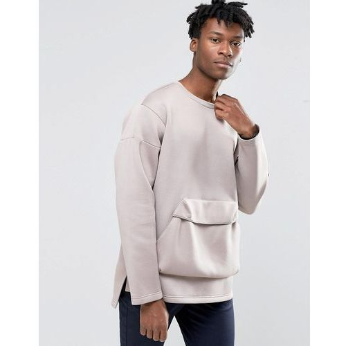 adidas Originals Badlander Crew Sweatshirt In Beige AY8523 - Beige