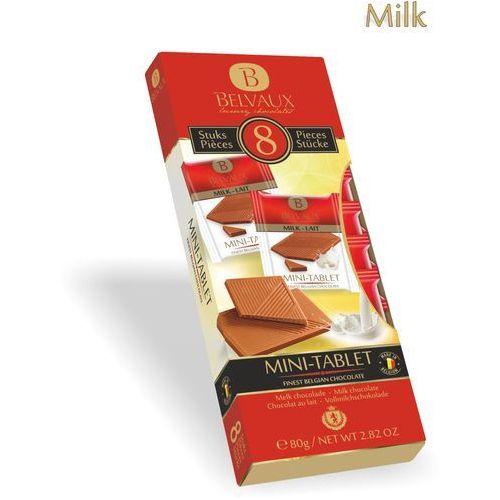 Zestaw czekoladek z belgijskiej czekolady mlecznej 35%, 8x10g 8 sztuk osobno pakowanych czekoladek 10g marki Belmarie