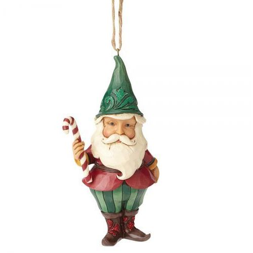 Jim shore Świąteczny gnom winter wonderland santa gnome (hanging ornament) 4058749 figurka ozdoba świąteczna skrzat