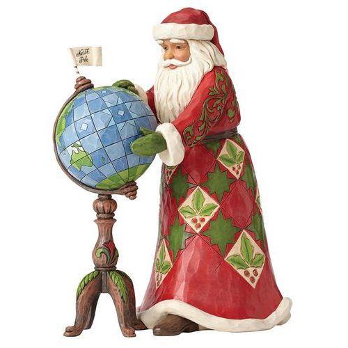 Mikołaj z globusem świat joy is in the journey 2 figurki 4053708 figurka ozdoba świąteczna marki Jim shore