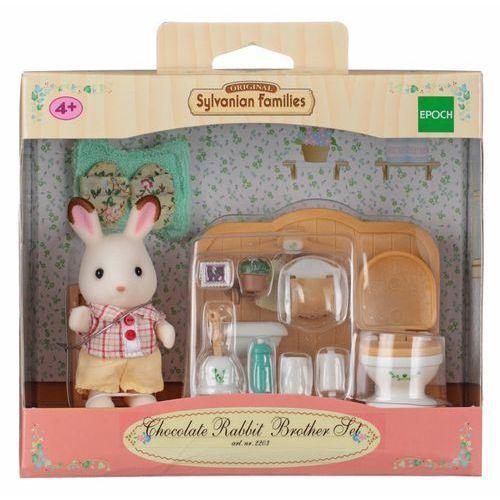 Sylvanian Families, łazienka i brat królików z czekoladowymi uszkami, zestaw z figurką ze sklepu Smyk