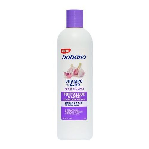 szampon czosnkowy do włosów słabych i łamliwych bezzapachowy 600ml marki Babaria