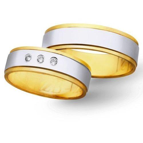 Obrączki z żółtego i białego złota 6mm - O2K/010 - produkt dostępny w Świat Złota