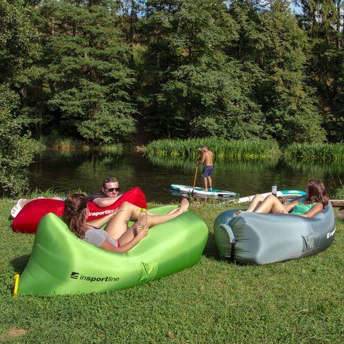 Oryginalny Dmuchany leżak lazy bag na lato inSPORTline Sofair materac fotel - Kolor Niebieski (8596084042743)