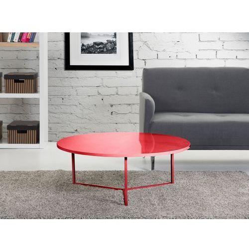 Nowoczesny stolik kawowy czerwony 90x35 cm - lawa - stól - TRIBECA, Beliani z Beliani