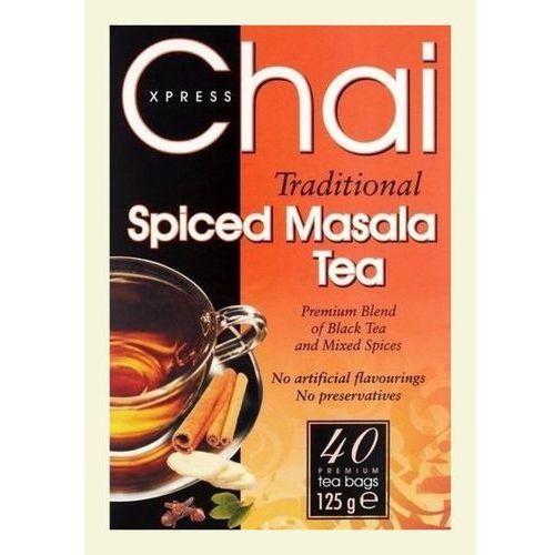 Chai xpress traditional spiced masala tea x40 premium tea bags 125g marki Fudco,
