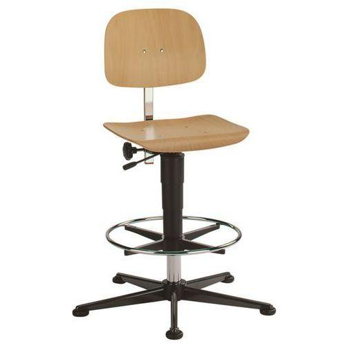 Obrotowe krzesło do pracy, na ślizgaczach z pierścieniem, zakres regulacji wysok marki Bimos