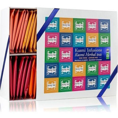 Zestaw herbat w torebkach muślinowych prezentowy 45 szt. marki Kusmi