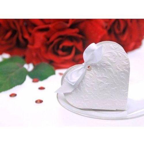 Pudełeczka dla gości serduszko białe - 10 szt. marki Ap
