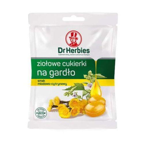Dr Herbies Ziołowe cukierki na gardło miód-cytryna 70g