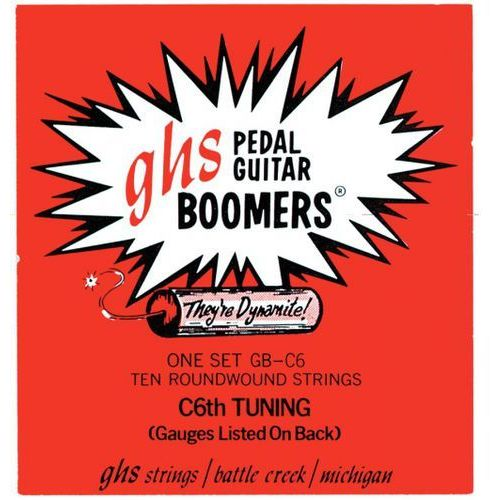 Ghs pedal steel boomers ″ struny do pedal steel guitar, 10-strings, c6 tuning,.015-.070