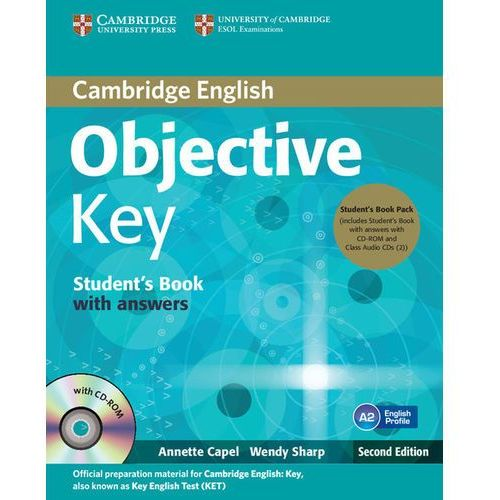 Cambridge English Objective Key. Pack (Podręcznik z Kluczem + CD + CD-ROM) (200 str.)