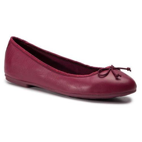 Baleriny TOMMY HILFIGER - Leather Ballerina Tommy Branding FW0FW04439 Beet Red 522, w 6 rozmiarach