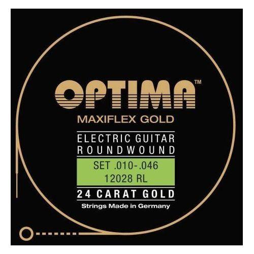 Optima 12028rl (674657) struny do gitary elektrycznej gold strings. maxiflex komplet