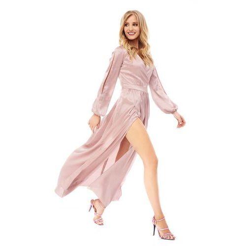 Sugarfree Sukienka penelopa w kolorze cielistym