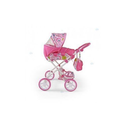 Fajny wysokiej jakości trwały wózek dla lalki Paulina różowo-biały - oferta [05ade006a132f51f]
