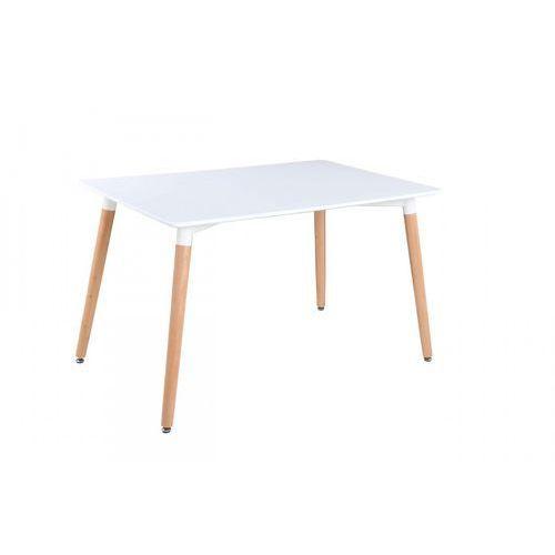 Nowoczesny stół lakierowany nolan biały/buk 120x80 marki Signal