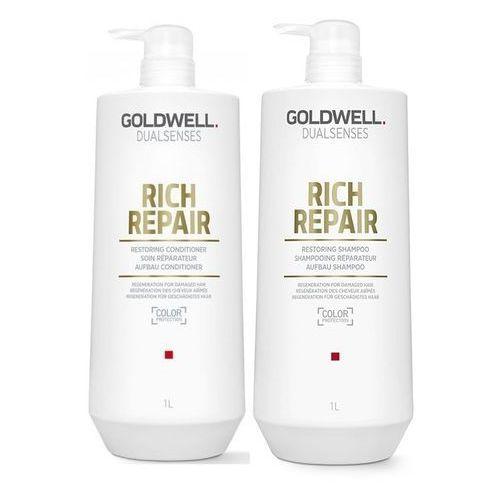 Goldwell Rich Repair | Zestaw regenerujący: szampon 1000ml + odżywka 1000ml