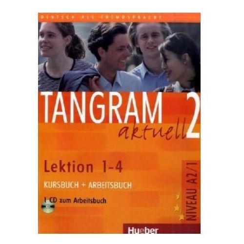 Tangram Aktuell 2, Kursbuch und Arbeitsbuch mit CD, lekcje 1-4, edycja niemiecka.