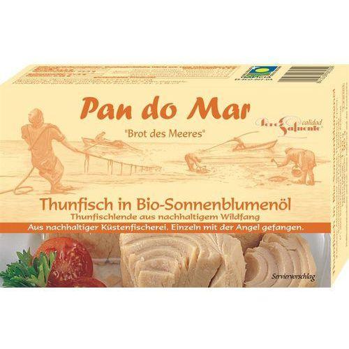 Tuńczyk w oleju słonecznikowym bio 120g marki Pan do mar