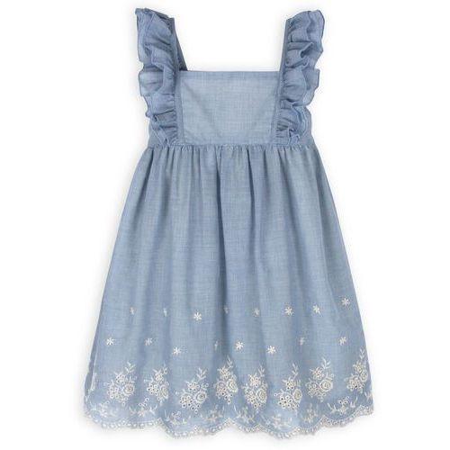 TROIZENFANTS Sukienka Loulou niebieska w krateczkę (sukienka dziecięca)