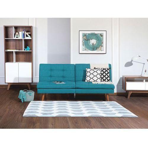 Beliani Sofa z funkcją spania niebieska - kanapa rozkładana - wersalka - ronne