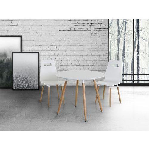 Stół do kuchni biały - 90 cm - stół do jadalni lub salonu - BOVIO