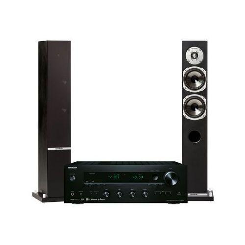 Zestaw stereo tx-8250b + quadral rhodium 500 czarny + darmowy transport! marki Onkyo