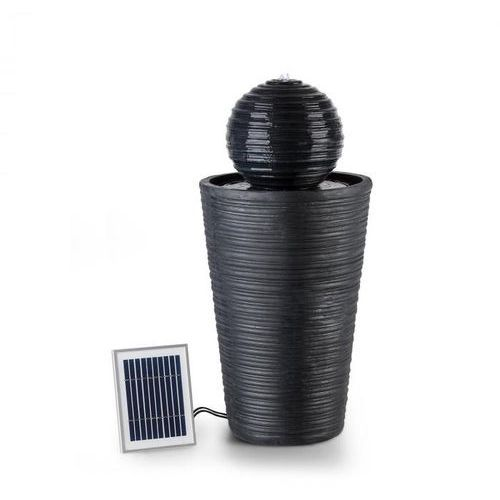 Blumfeldt Liquitorre Fontanna solarna 200 l/h panel solarny 2 W akumulator LED tworzywo Polyresin