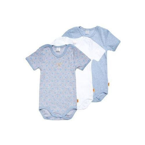 Steiff Collection 1/4 ARM NEWBORN ESSENTIALS BABY 3 PACK Body della robbia blue, kolor niebieski